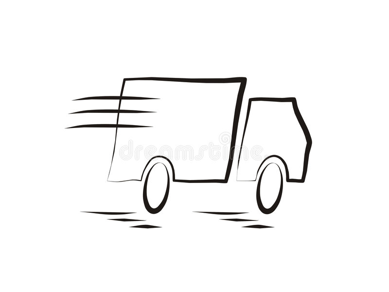 Download Fast moving truck stock vector. Image of delivery, goods - 821021
