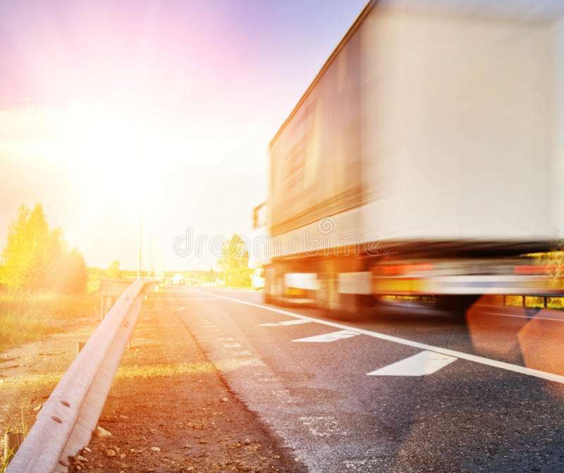 Download Fast moving truck stock image. Image of cargo, beam, fuel - 9942303