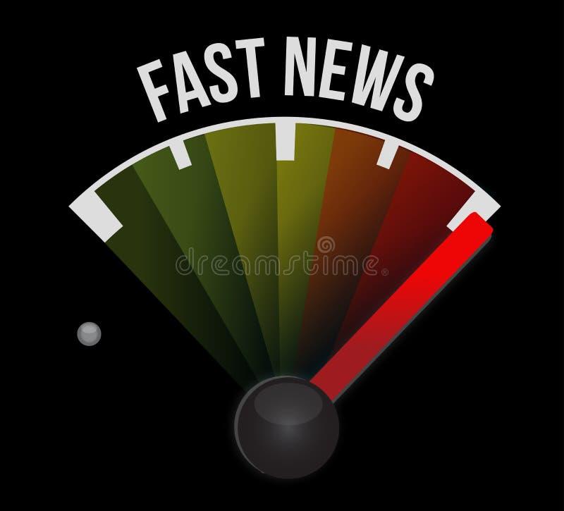 Fast news speedometer royalty free illustration