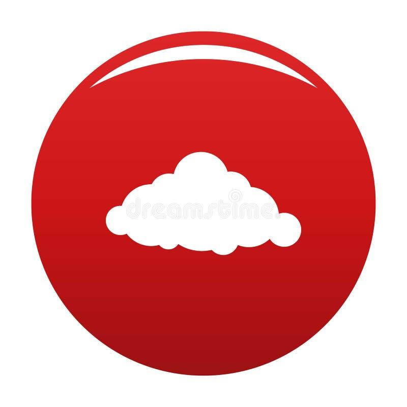 Fast röd molnsymbolsvektor stock illustrationer