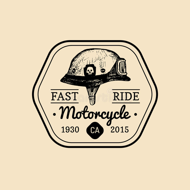 Download Fast Ride Biker Store Logo Motorcycle Club Sign Garage Label Vector Illustration