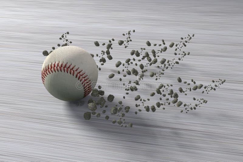 Fast rolling baseball vector illustration