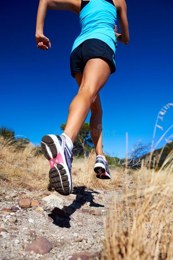 Fast running athlete stock photo