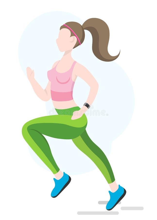 Fast running girl stock photos