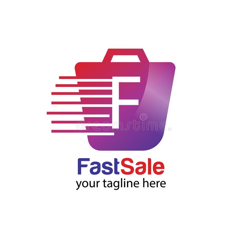 Fast sale logo design template vector stock photography