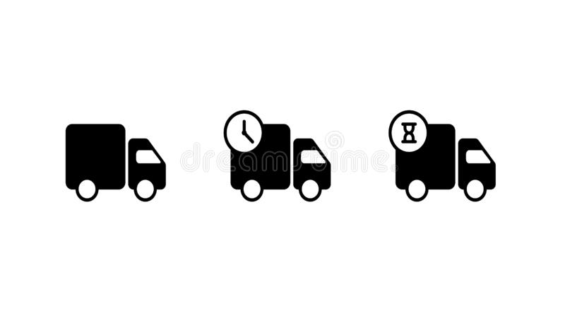 Fast shipping delivery truck. Set icons design. vector illustration