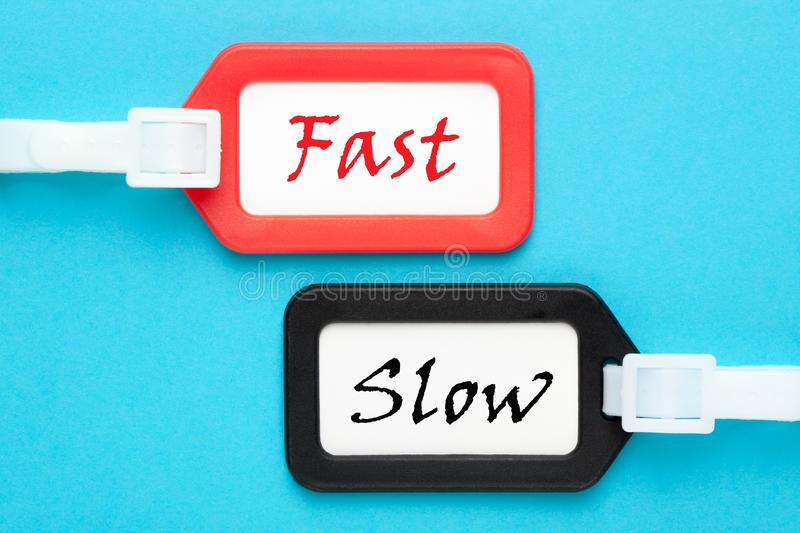 Fast Slow Concept royalty free stock images