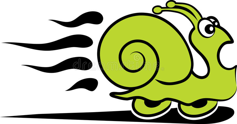 Fast snail royalty free illustration