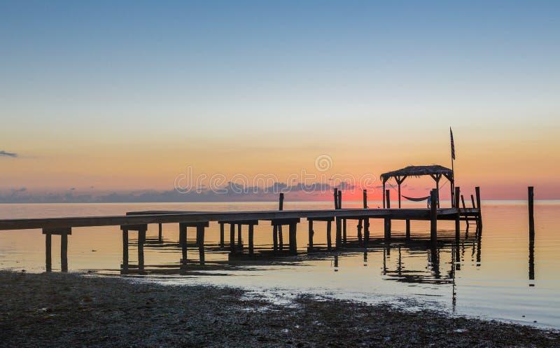 Fast Sonnenaufgang in Key West, Florida lizenzfreie stockbilder