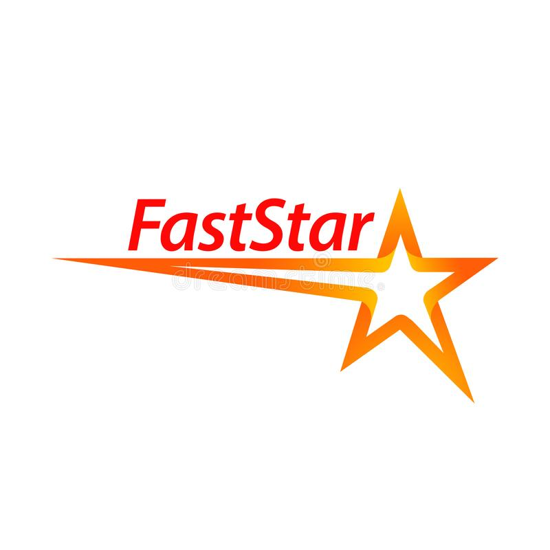 Fast star shape logo concept design template idea vector illustration