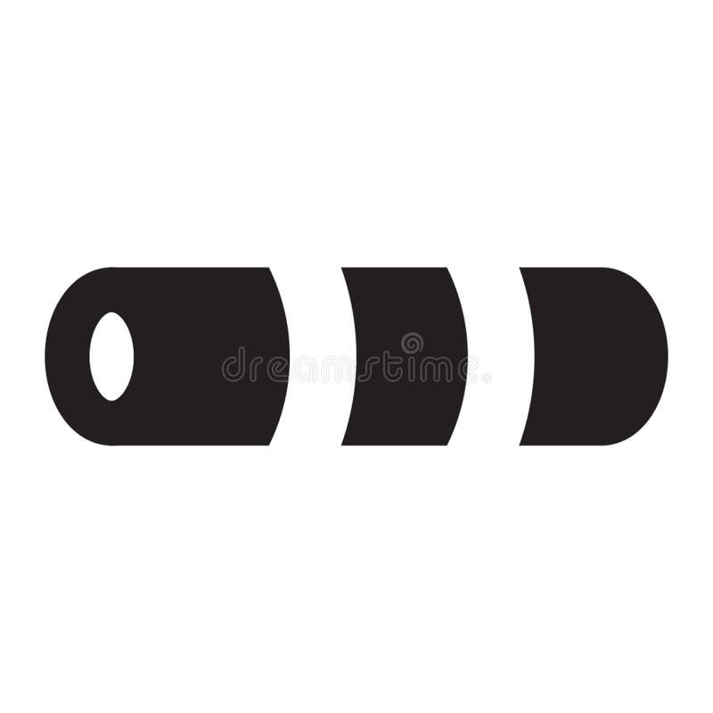 Fast stil för matt symbol för alla dina projektbehov fotografering för bildbyråer