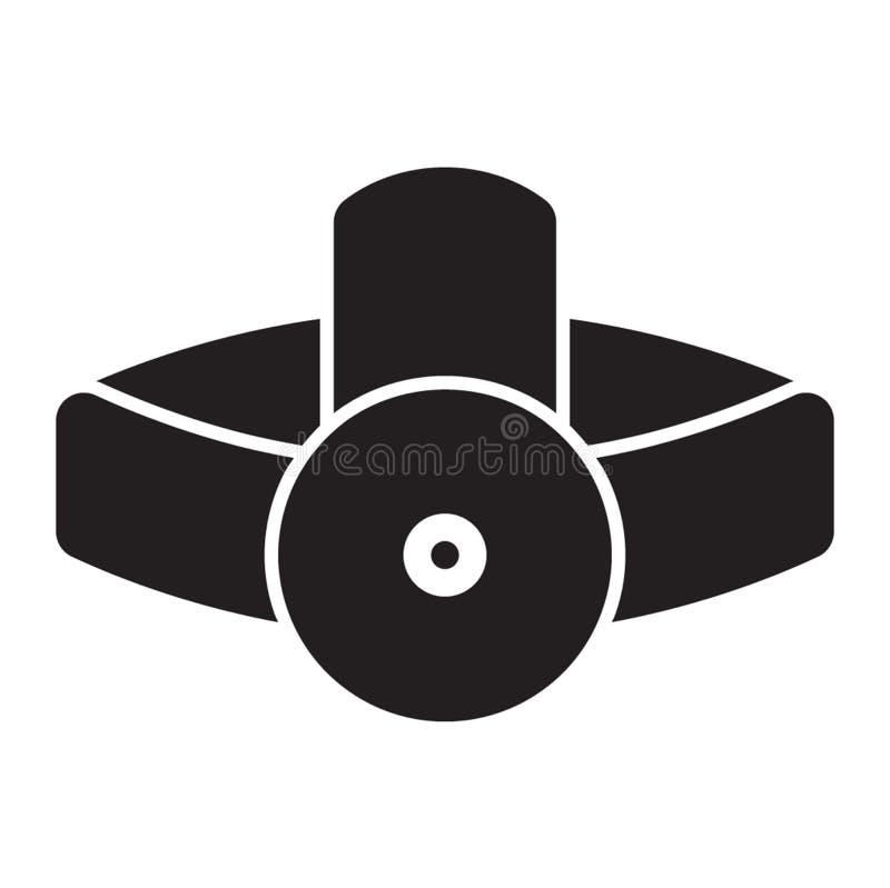 Fast stil för pannlampasymbol för alla dina projektbehov fotografering för bildbyråer