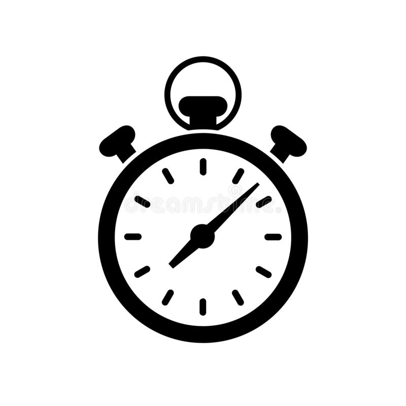 Fast stopwatch line icon. Fast time sign. Speed clock symbol urgency, deadline, time management, competition sign royalty free illustration