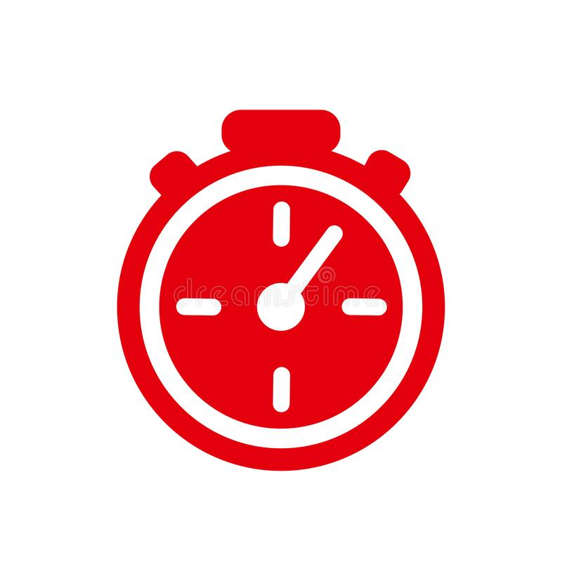 Fast stopwatch line icon. Fast time sign. Speed clock symbol urgency, deadline, time management, competition sign – for stock royalty free illustration