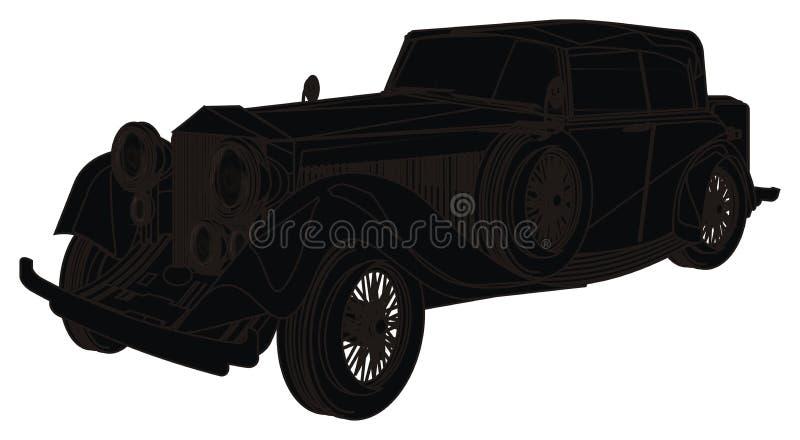 Fast svart bil stock illustrationer