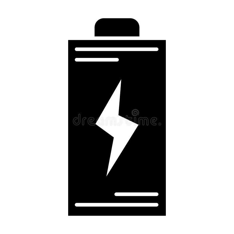 Fast symbol för batteri Energivektorillustration som isoleras på vit Design för ackumulatorskårastil som planläggs för rengörings royaltyfri illustrationer