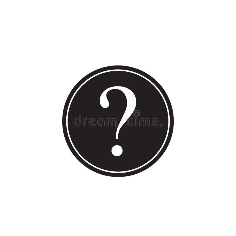 Fast symbol för frågefläck, hjälptecken, FAQ stock illustrationer