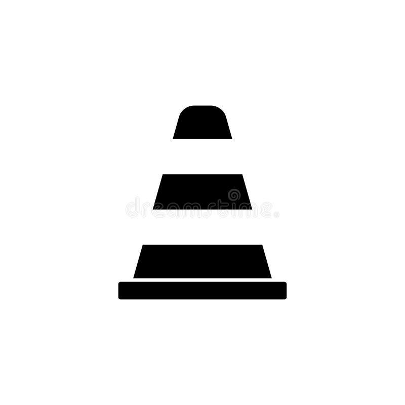 Fast symbol för kotte, navigering och trafikvarning vektor illustrationer