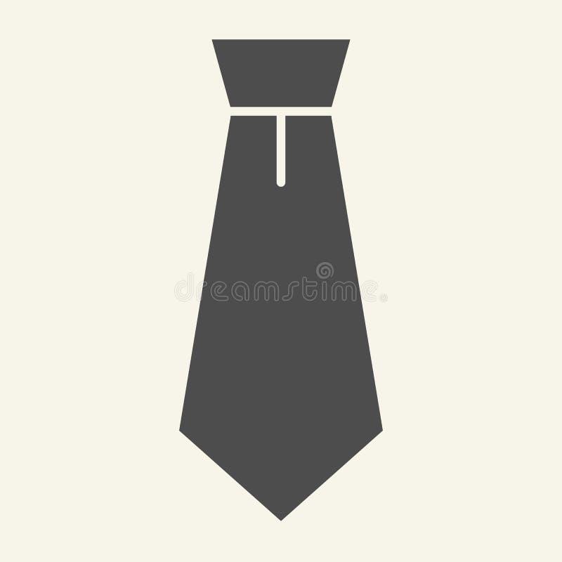 Fast symbol för slips Bandvektorillustration som isoleras på vit Formell design för kläderskårastil som planläggs för rengöringsd stock illustrationer