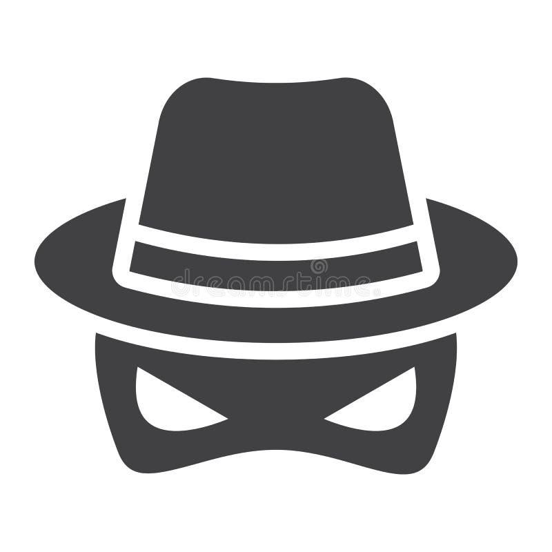 Fast symbol för spion, inkognito och medel royaltyfri illustrationer