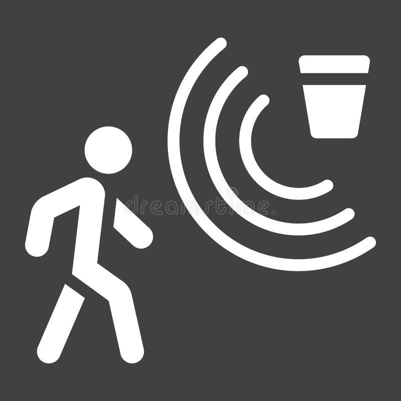 Fast symbol, säkerhet och vakt för rörelseavkännare vektor illustrationer