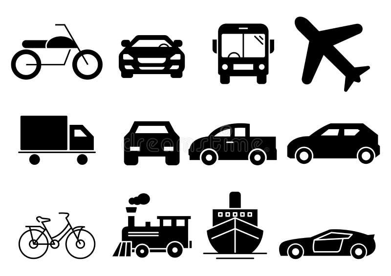 Fast symbolstrans. stock illustrationer