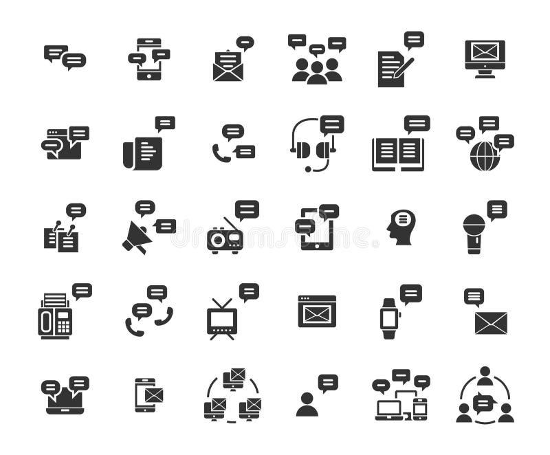 Fast symbolsuppsättning för meddelande royaltyfri illustrationer