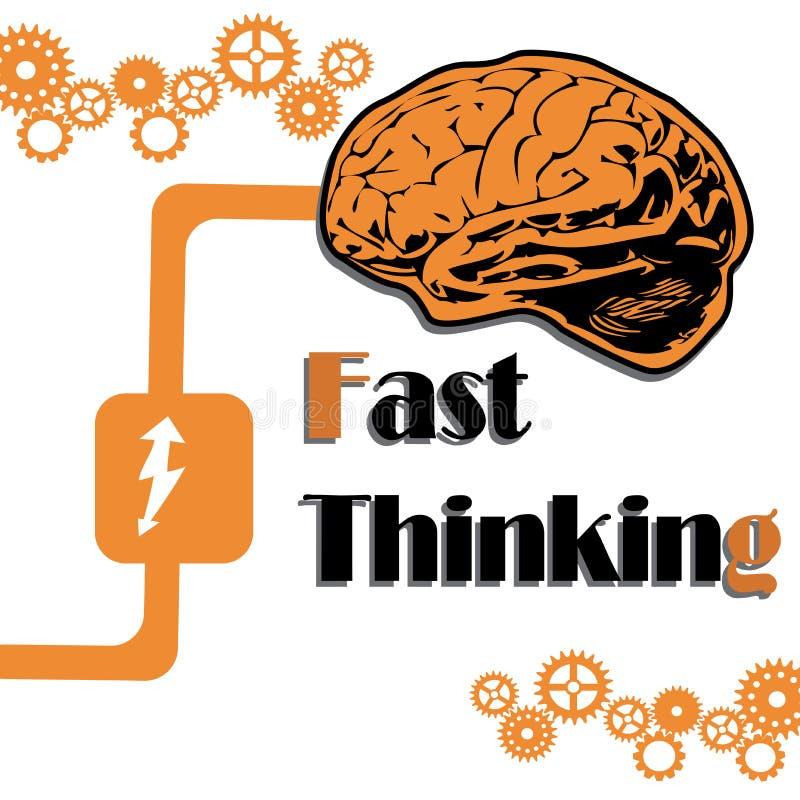 Fast thinking royalty free illustration
