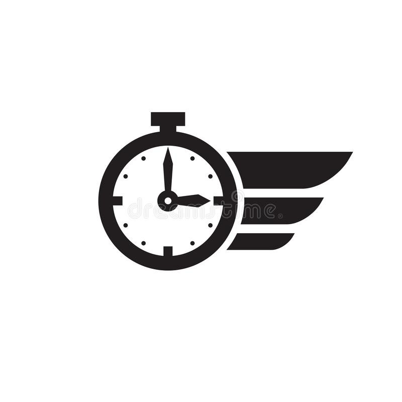 Free Fast Time Concept Web Icon Vector Design. Chronometer. Alarm Clock Sign. Royalty Free Stock Photos - 154598328