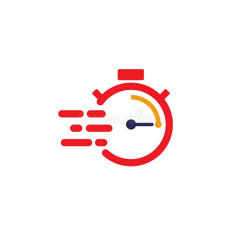 Fast time delivery icon. stopwatch in motion. deadline concept design. clock speed, flat time icon vector illustration. Timer, symbol, hour, graphic, element vector illustration