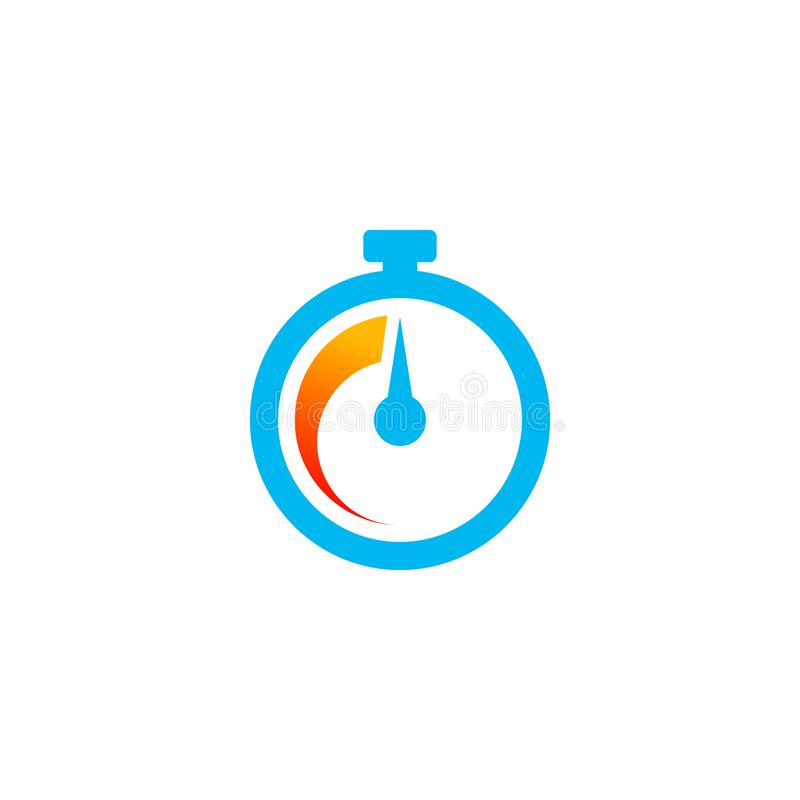 fast time icon vector in minimalist style vector illustration