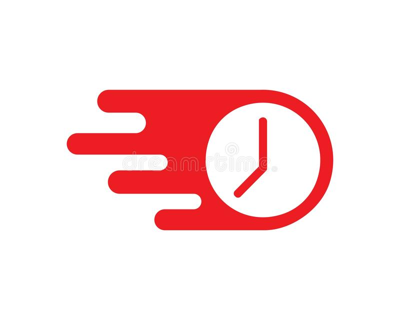 fast in time logo icon illustration design vector royalty free illustration