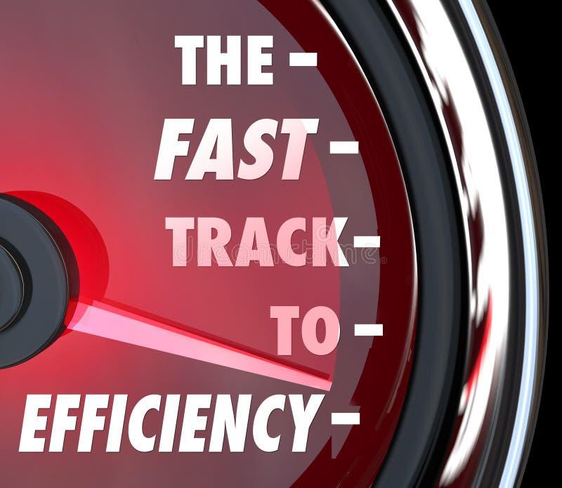 Fast-Track au tachymètre Improv productif efficace d'efficacité illustration libre de droits