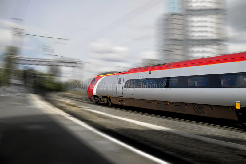 Fast train stock photography