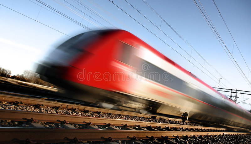 Fast train with motion blur. Photo of Fast train with motion blur royalty free stock photos