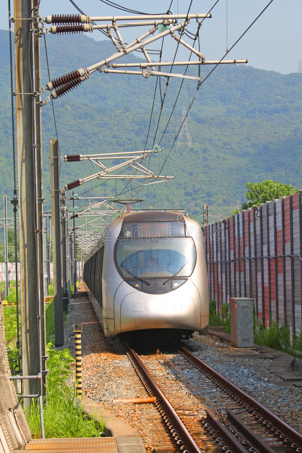 Free Fast Train With Passengers In Hong Kong At Day Royalty Free Stock Image - 20479026