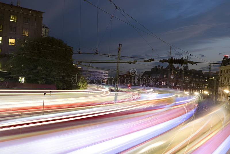 Fast trains. With motion blur royalty free stock photos