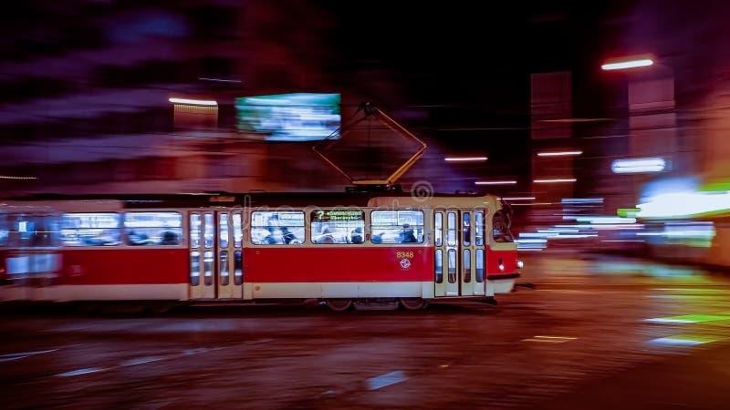 Fast tram stock photo