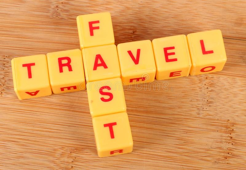 Fast travel royalty free stock photography