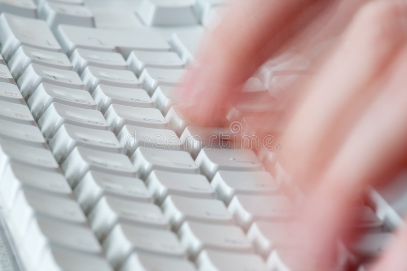 Fast typing stock image