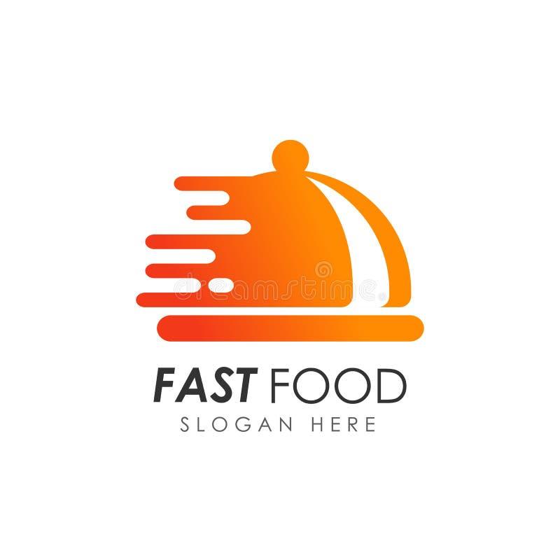 Fasta food loga projekt karmowy doręczeniowy logo royalty ilustracja