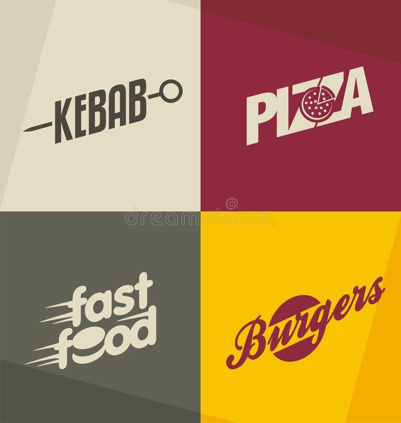 Fasta food loga projekta pojęcia ilustracji