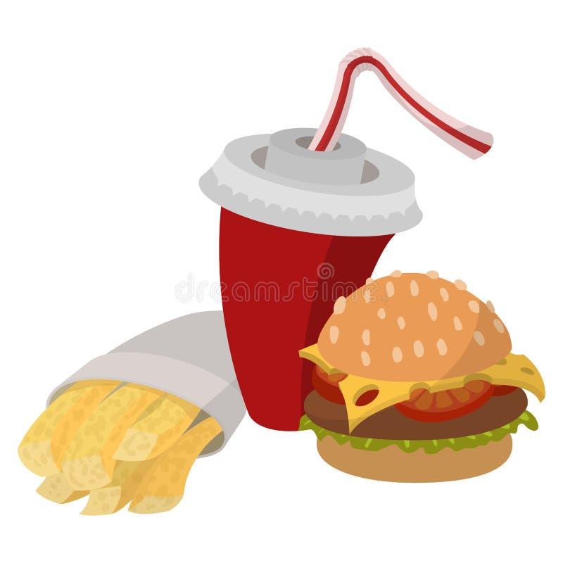 Fasta food lunch ilustracja wektor
