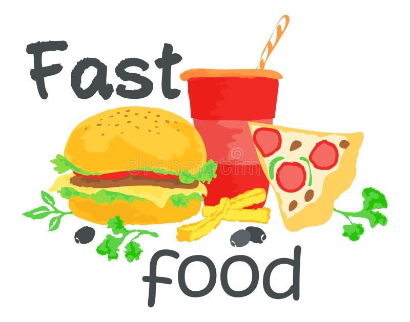 Fasta Food majcher ilustracji