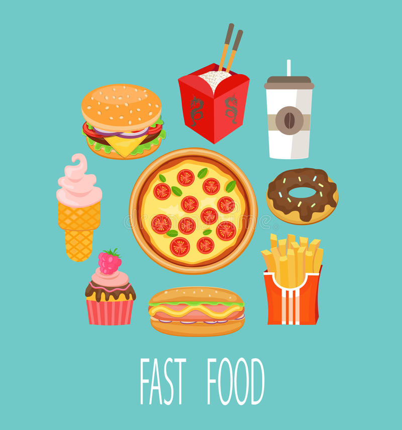 Fasta food pojęcie ilustracji