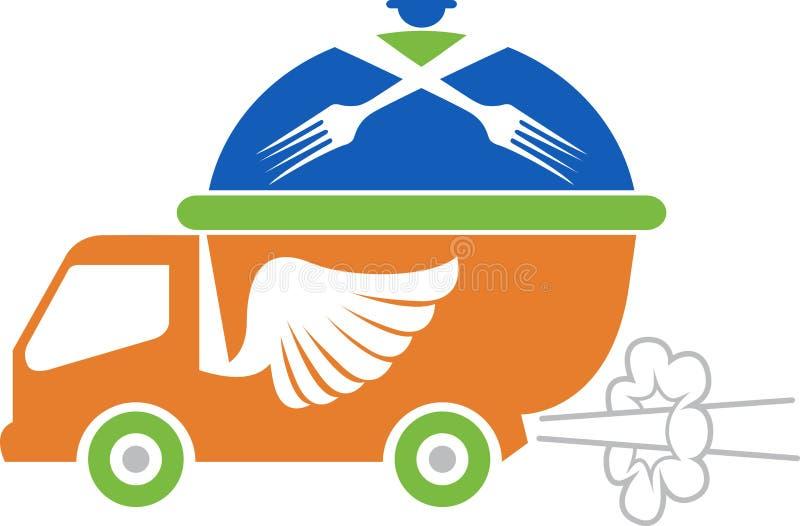 Fasta food pojazdu logo ilustracji
