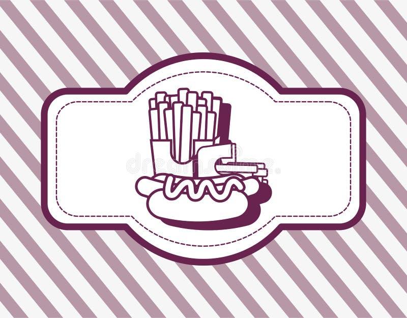 Fasta food projekt ilustracji