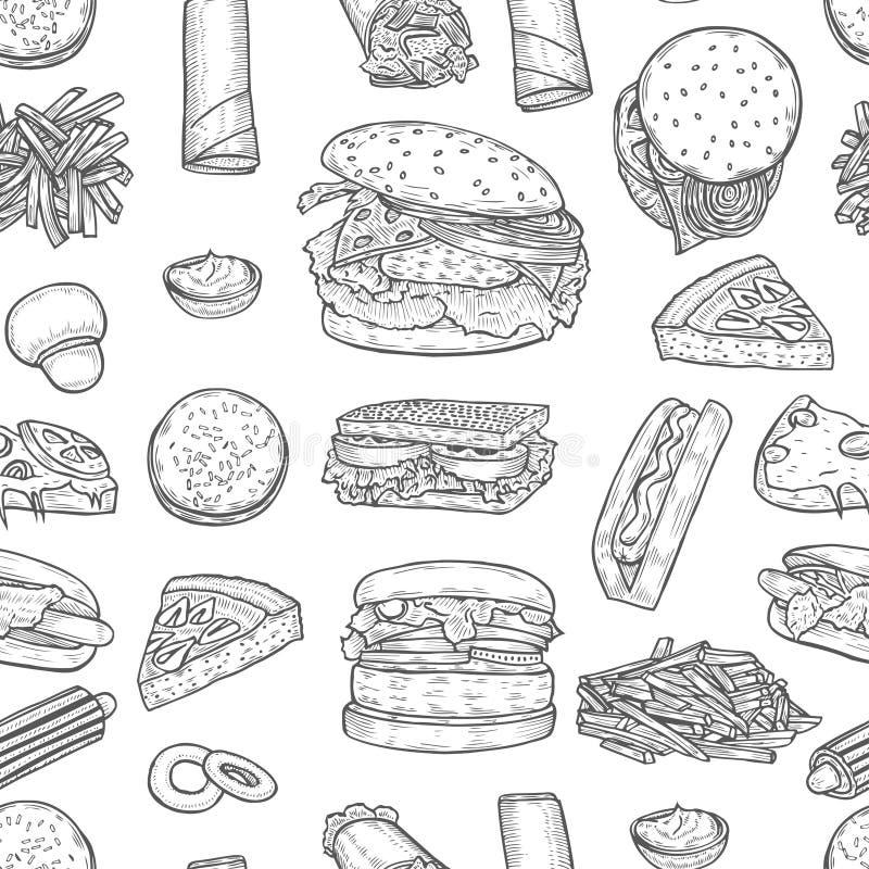 Fasta food tło ilustracji