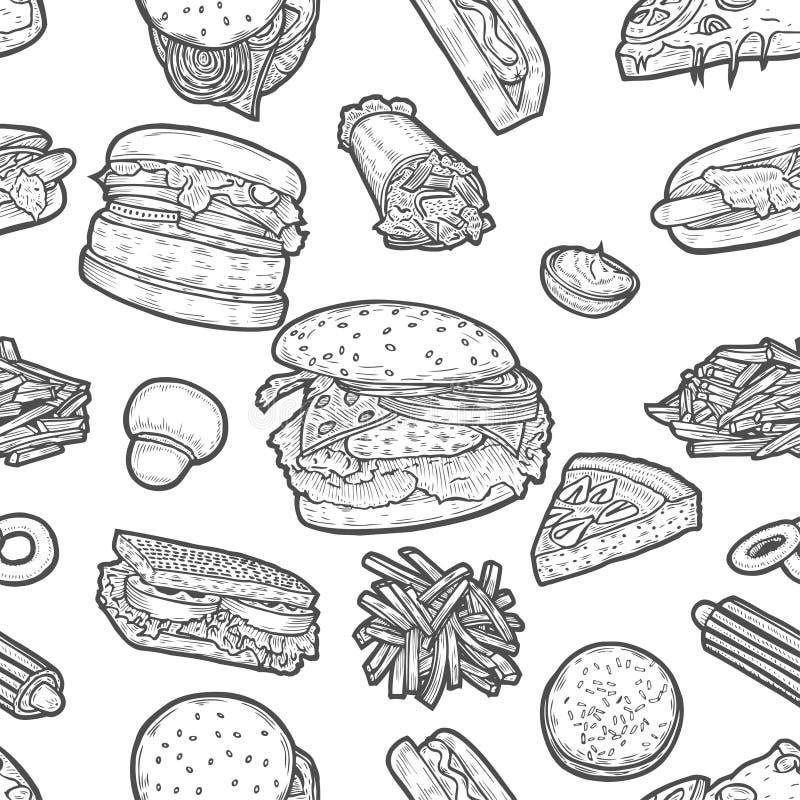 Fasta food tło royalty ilustracja