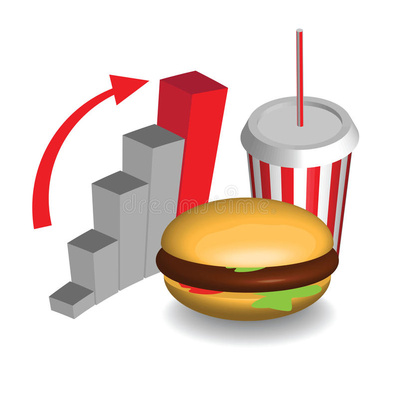 Fasta food wykres royalty ilustracja